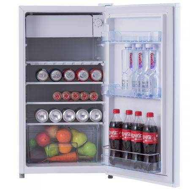 Costway 91L  Refrigerador combi con 3 estantes de vidrio ajustables nevera 49 x 45 x 84 cm Blanco