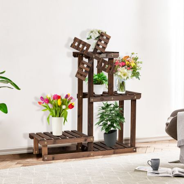 costway porta plantas con 4 niveles