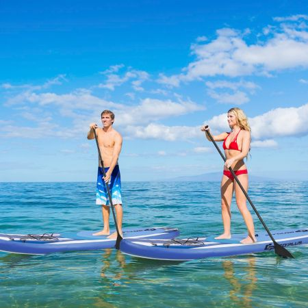 Costway Tabla Inflable de Paddle M Tabla SUP Tabla de Surf Kit con Remo Bomba Correa para Tobillo Superficie Antideslizante para Niños y Adultos 325 x 76 x 16 cm
